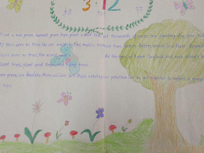 植树节英语手抄报图片,植树造林人人有责