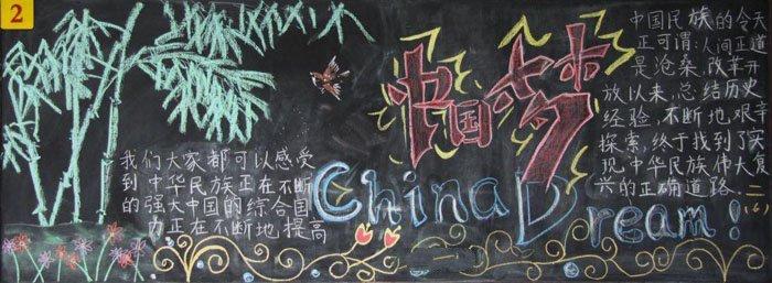 我的中国梦黑板报图片,共筑中国梦