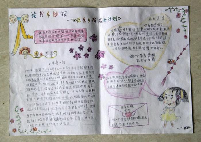 读书手抄报图片,优秀女孩成长计划