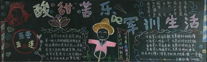 简单好看的开学黑板报图片,逐梦启航