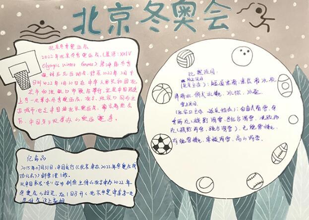 北京冬奥会手抄报