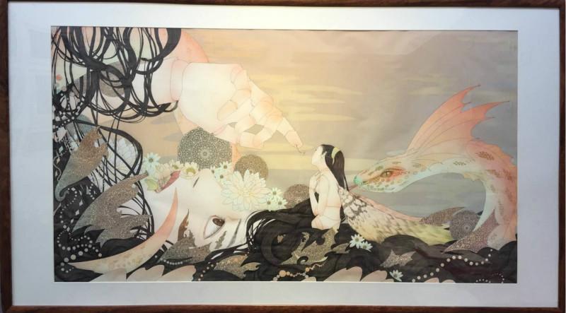 花与婚礼现代装饰画,客厅装饰画图片
