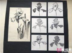 七种花卉图案设计,装饰图案