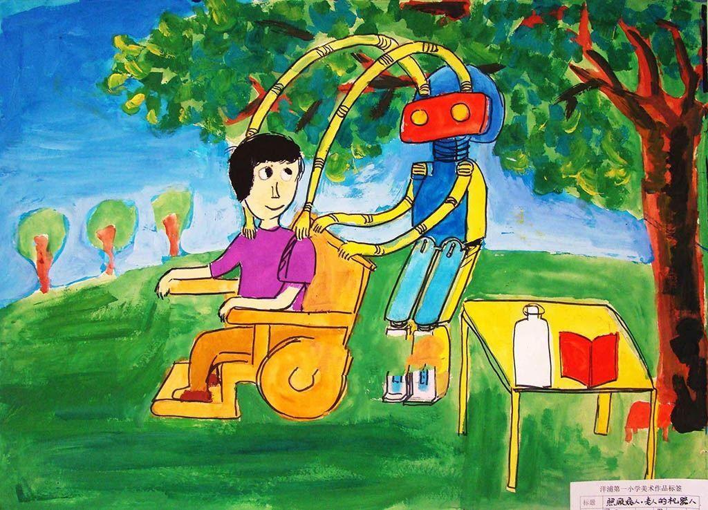 儿童科幻画获奖作品,海底观光船