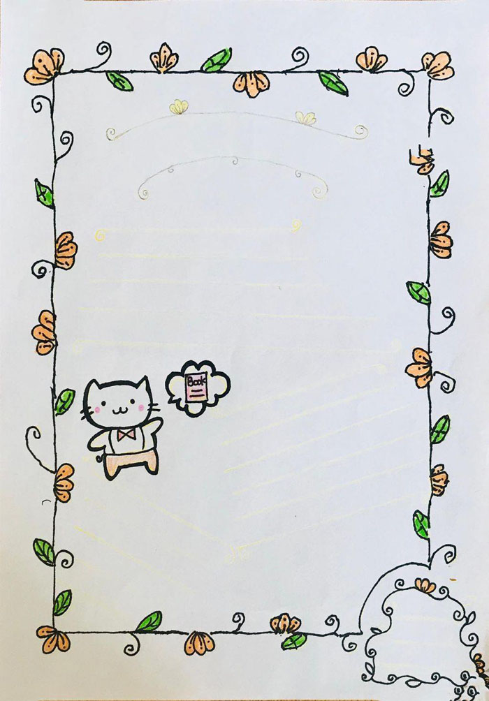 手抄报边框素材简单漂亮,手残党专用手抄报花边简笔画