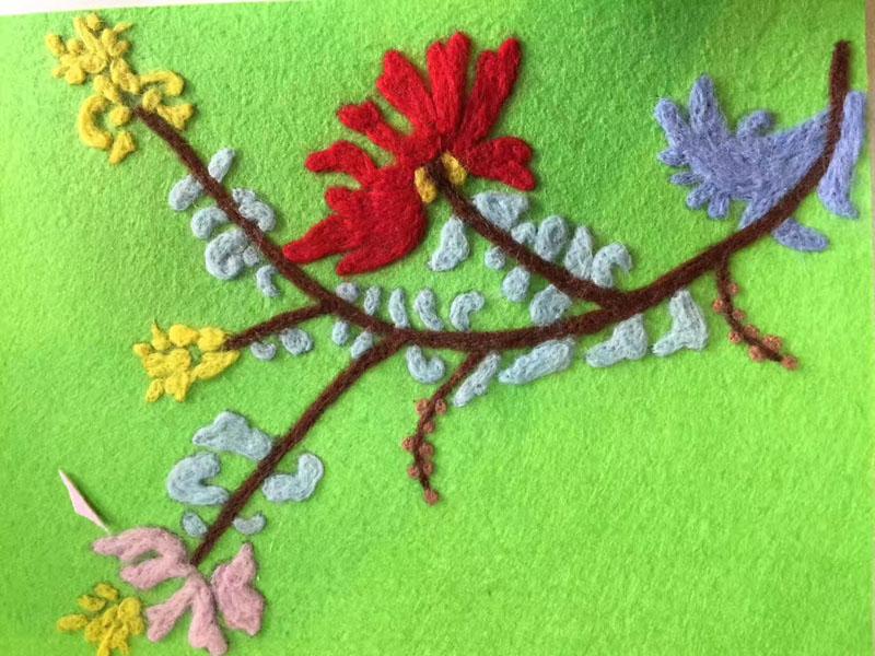 儿童毛线画手工图片,神奇的毛线画