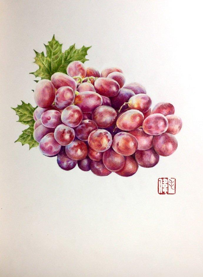 彩铅手绘教程图解,红艳艳的泡椒