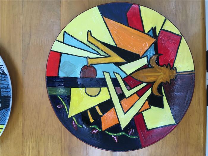 手绘盘子装饰画,装饰画盘子