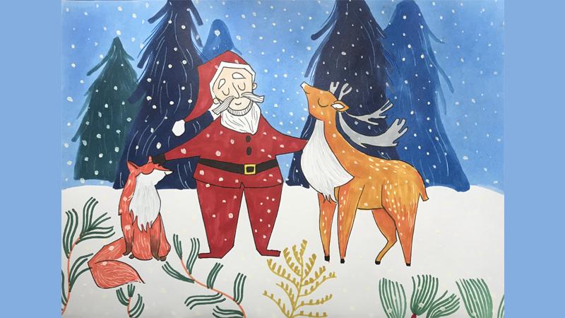 儿童圣诞树怎么画