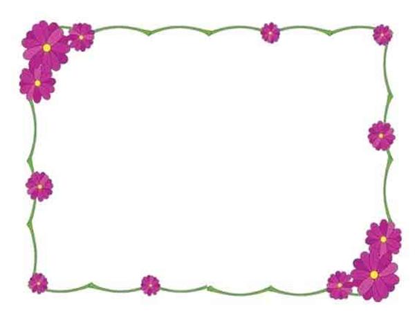 手抄报花边素材,简单漂亮花边边框素材