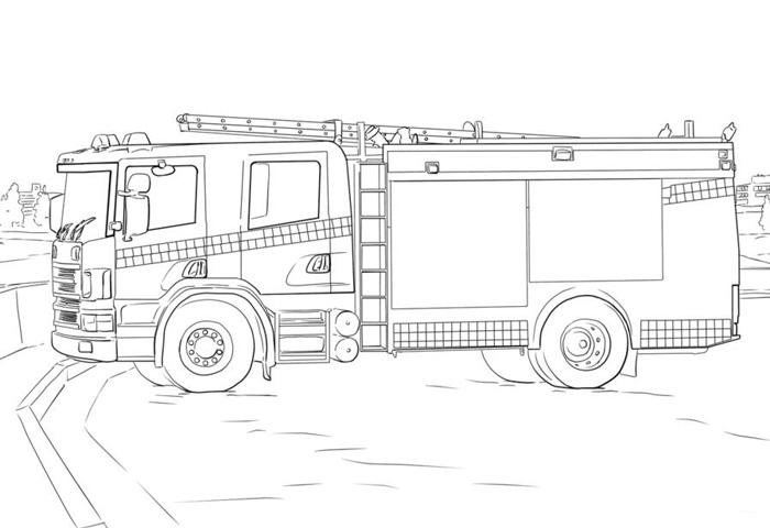 交通工具简笔画图片,消防车简笔画