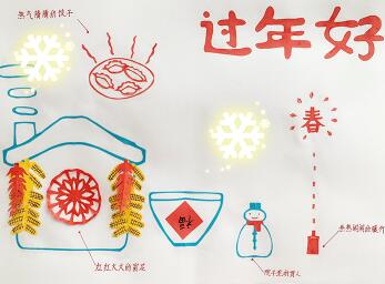 2019年春节手抄报版面设计图大全,新春快乐