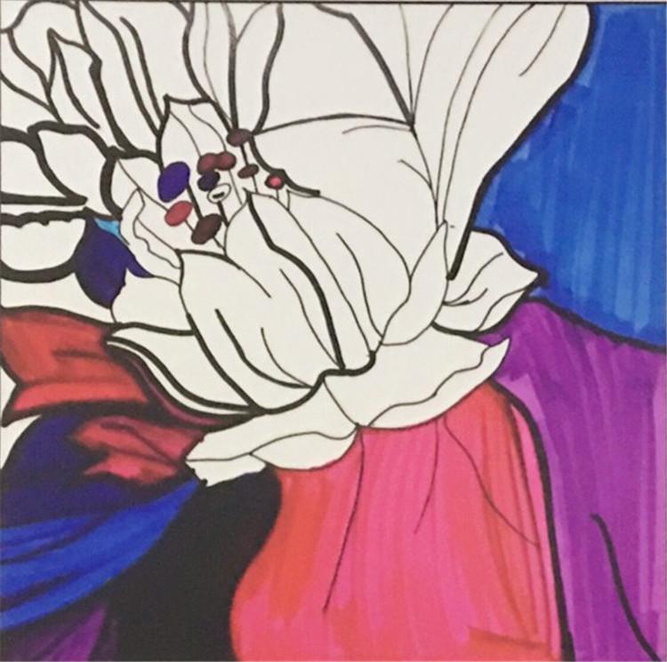 客厅装饰画,荷塘月色的彩色装饰画