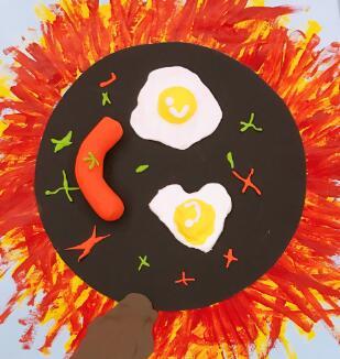 漂亮的儿童画作品欣赏,蘑菇世界
