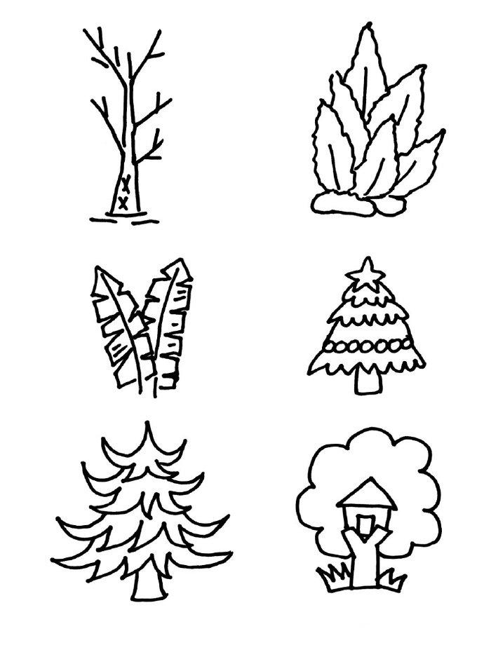 100种盆栽植物简笔画,可爱萌萌小盆栽简笔画