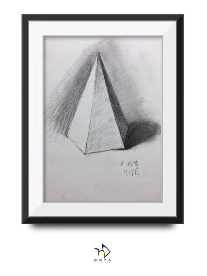 儿童静物素描图片,正方体