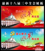 政府军队党建十八届三中全会展板素材