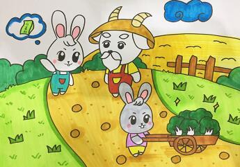 儿童睡前故事,有礼貌的小白兔