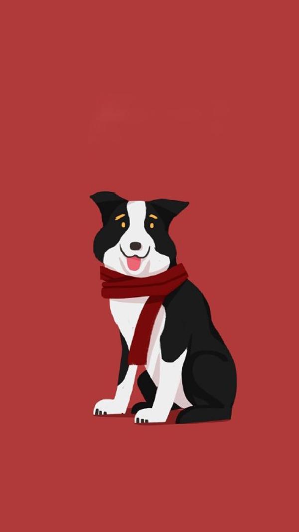 可爱的狗年壁纸图片,狗年吉祥