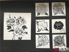 七种花卉图案,图案设计