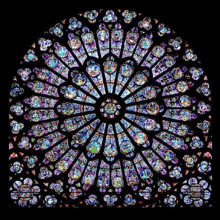 精美的教堂玫瑰窗图案图片
