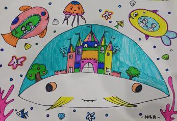 小学生科幻画图片大全,儿童科幻画简单又好看