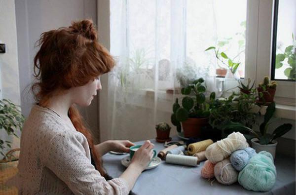 小清新编织作品,恬静女孩的美好钩编欣赏