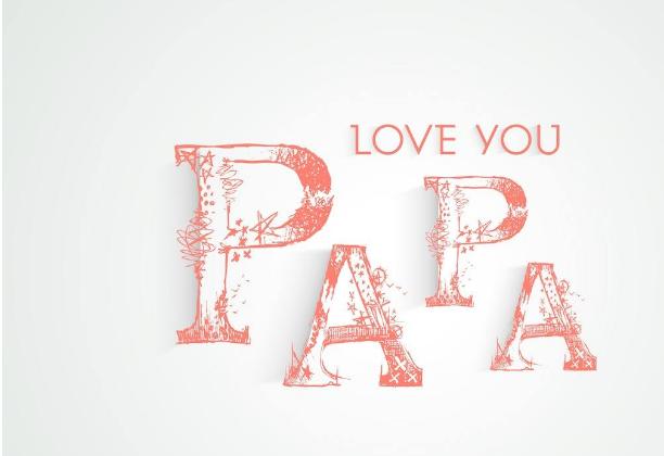 happy father`s day 父亲节艺术字体设计