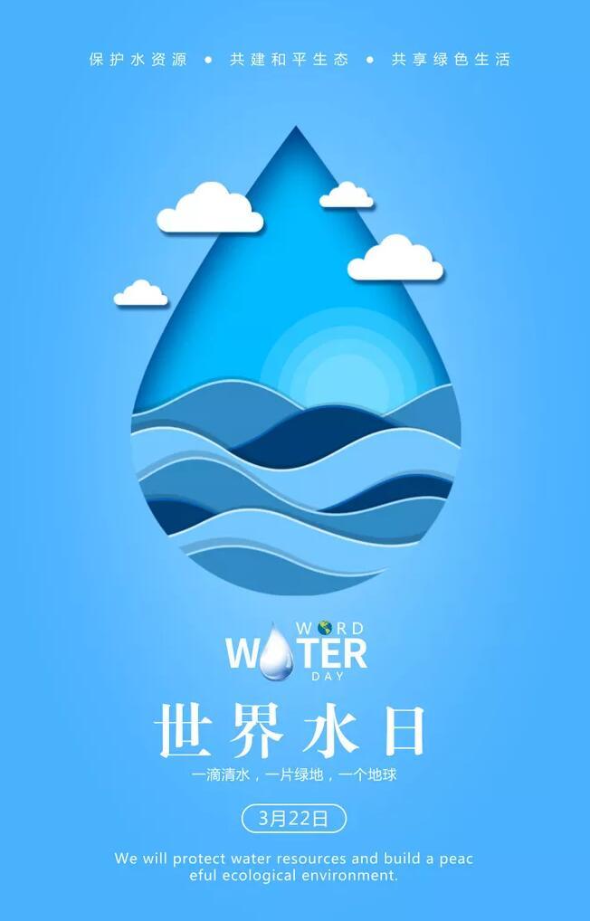 2018年世界水日海报设计,节水意识