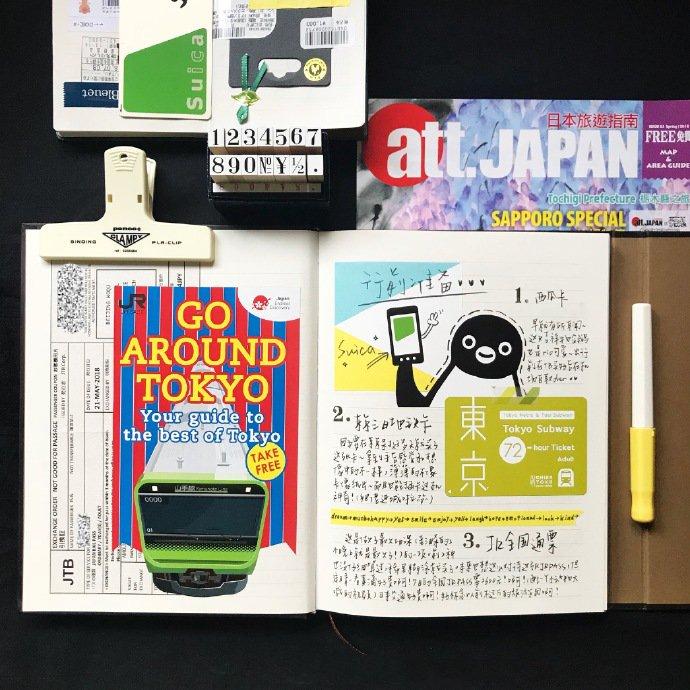 日系手帐简排版图片,八月
