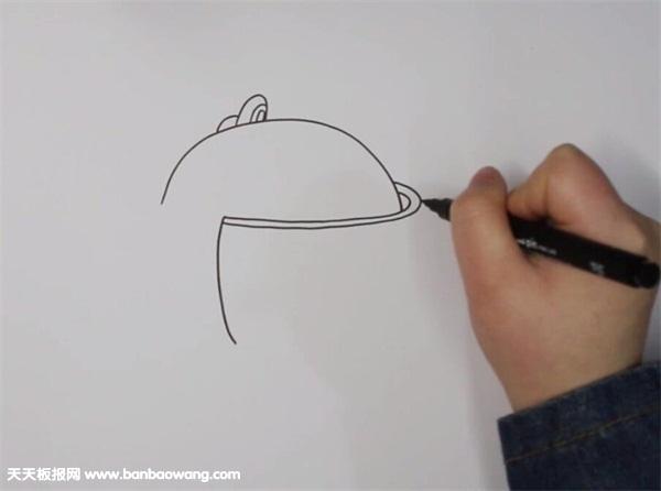 吃鸡三级头简笔画