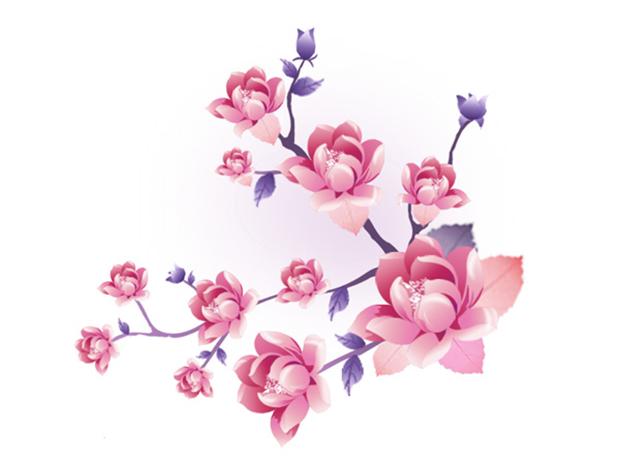 清新淡雅的花边素材