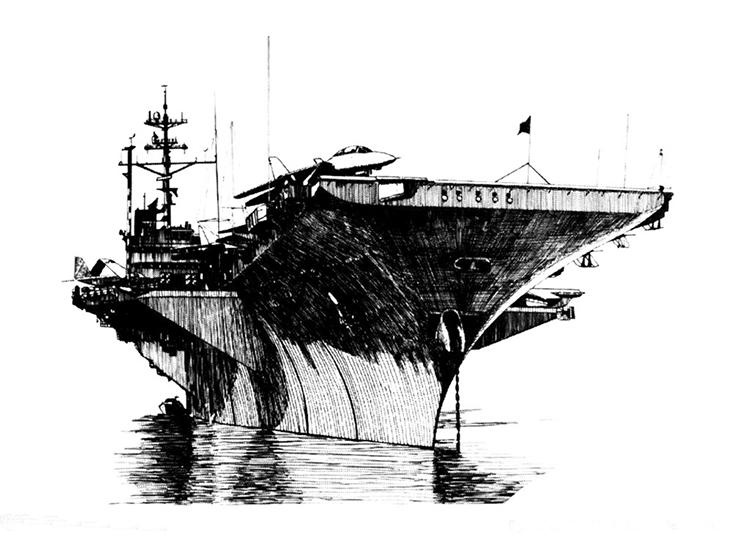 辽宁号航空母舰简笔画图片