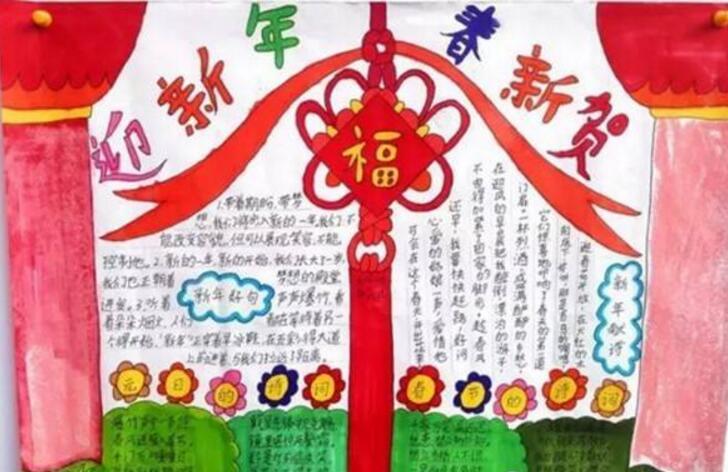 我的寒假生活,春节节日展板
