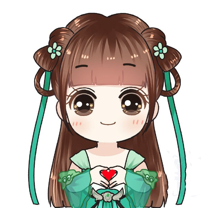 超可爱的赵丽颖Q版萌图,颖宝也是可爱的妹子