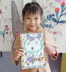 儿童创意美术作品图片,盒装肉
