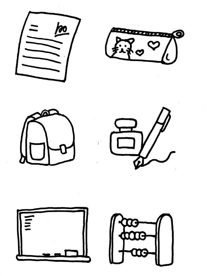 幼儿常见生活用品简笔画,超简单的生活小素材简笔画