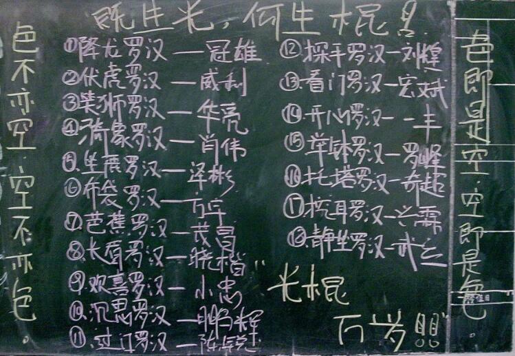 校园光棍节创意黑板板报版式,孩子们冲冲冲