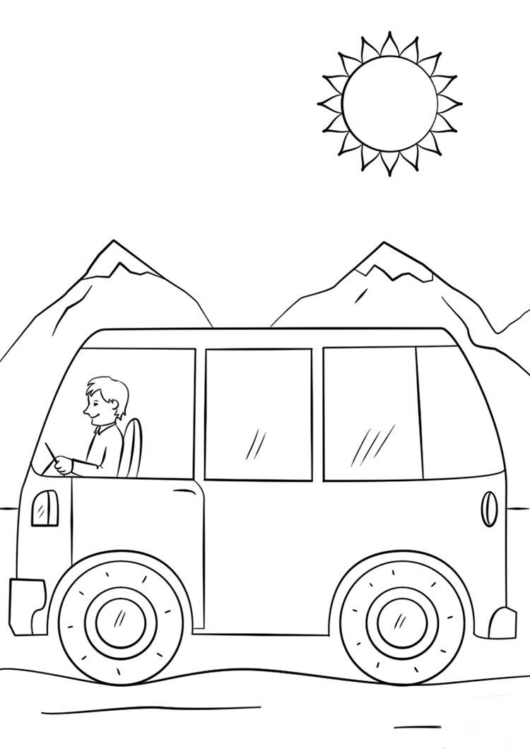 农夫驾驶拖拉机简笔画图片