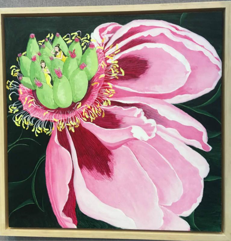 花与少女花卉图案,客厅装饰画图片
