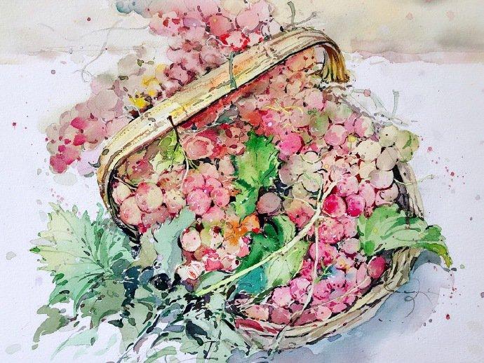 简单唯美的水彩画教程,木兰花