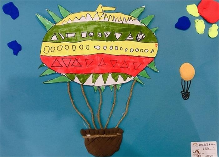 儿童画创意作品欣赏,夜空下的色彩