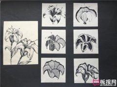 黑白图案,装饰图案设计