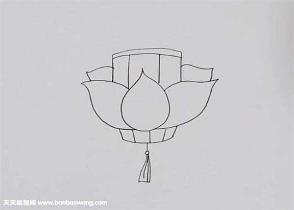 莲花灯怎么画简笔画