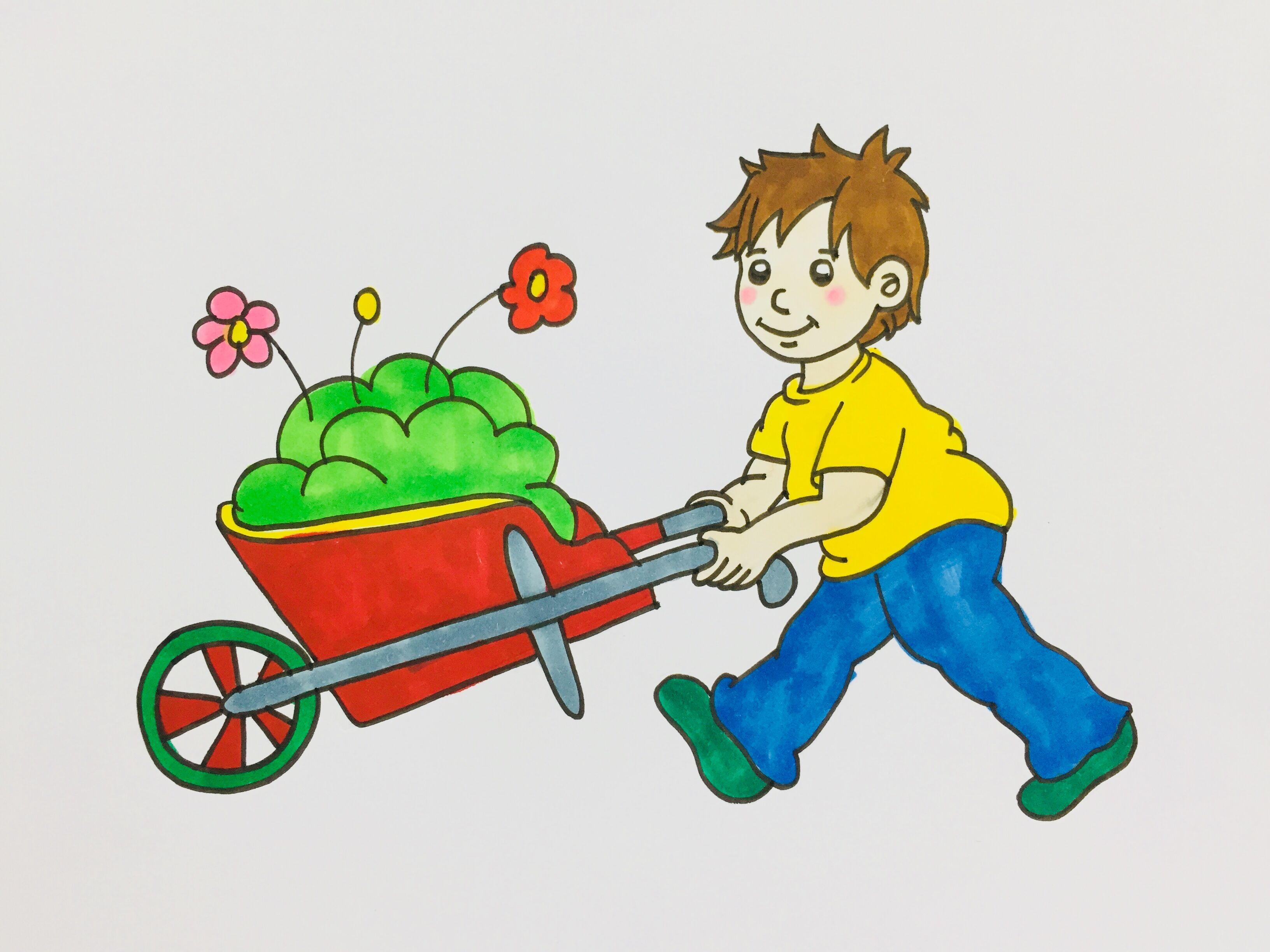 5月1日劳动节简笔画,手绘五一劳动节简笔画图片