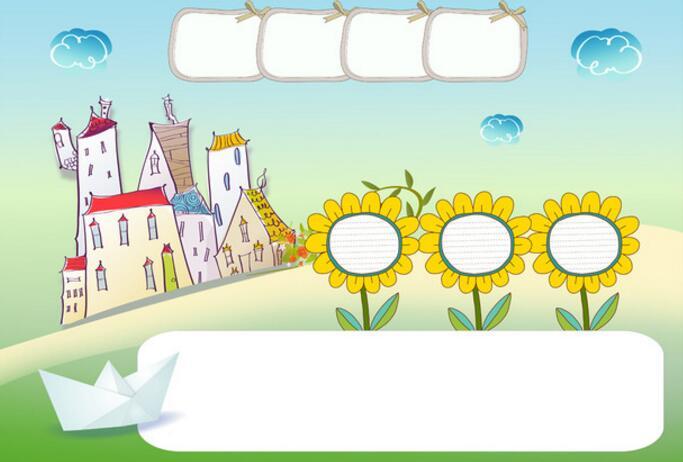 儿童主题电子小报展板版面设计