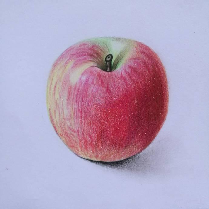 彩铅画入门教程步骤图,美味的红莓棒冰