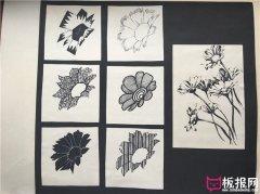 七种不同花卉图案设计,图案素材