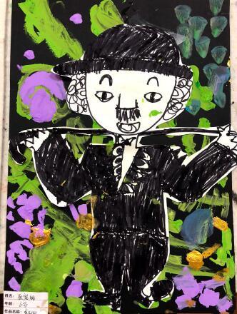 优秀儿童画作品图片大全,小老鼠偷油吃