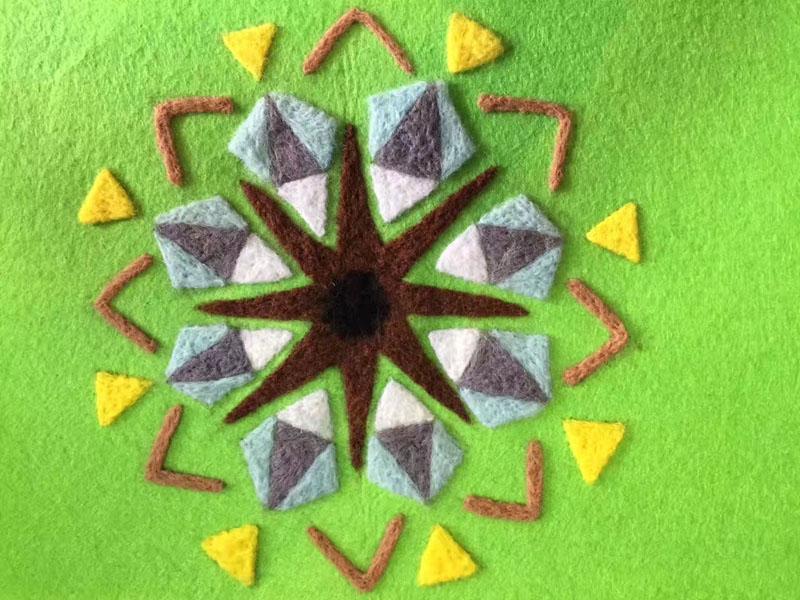 儿童毛线画手工图片,拼出的艺术